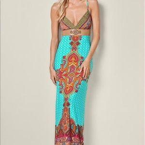 Venus Printed Maxi Dress| Boho| size XS